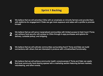 Sprint 1 Backlog