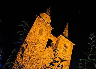 Kirche Jüterbog bei Nacht