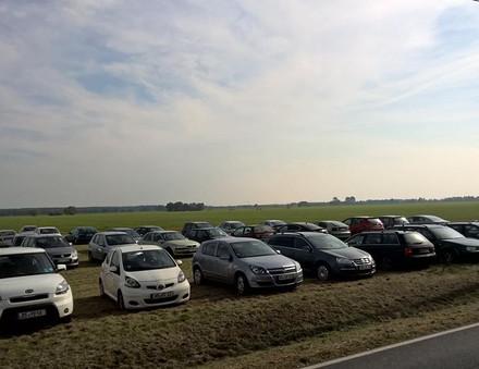 Parkplätze zum Kartoffelfest