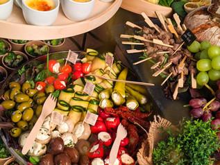 Grillbuffet als Grazing Table