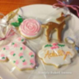 Sweet baby shower cookies_#kingwoodcooki