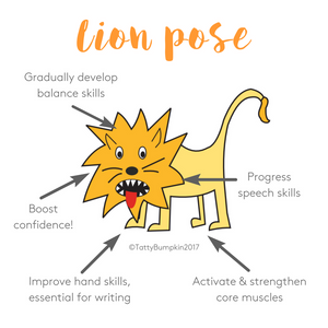 Lion pose benefits