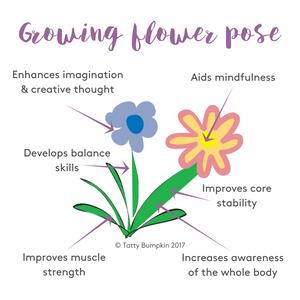 Growing flower pose benefits