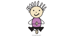 butterfly pose cute illustration by Sam Petter