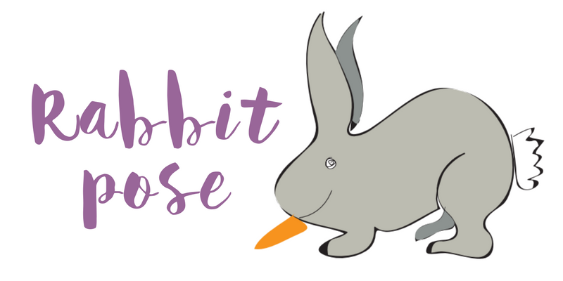 Rabbit pose blog header