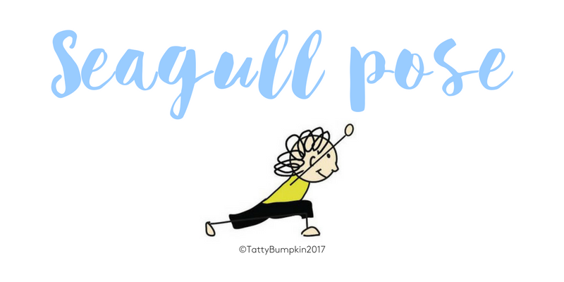 Seagull pose blog header