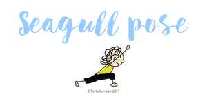 Seagull pose blog header