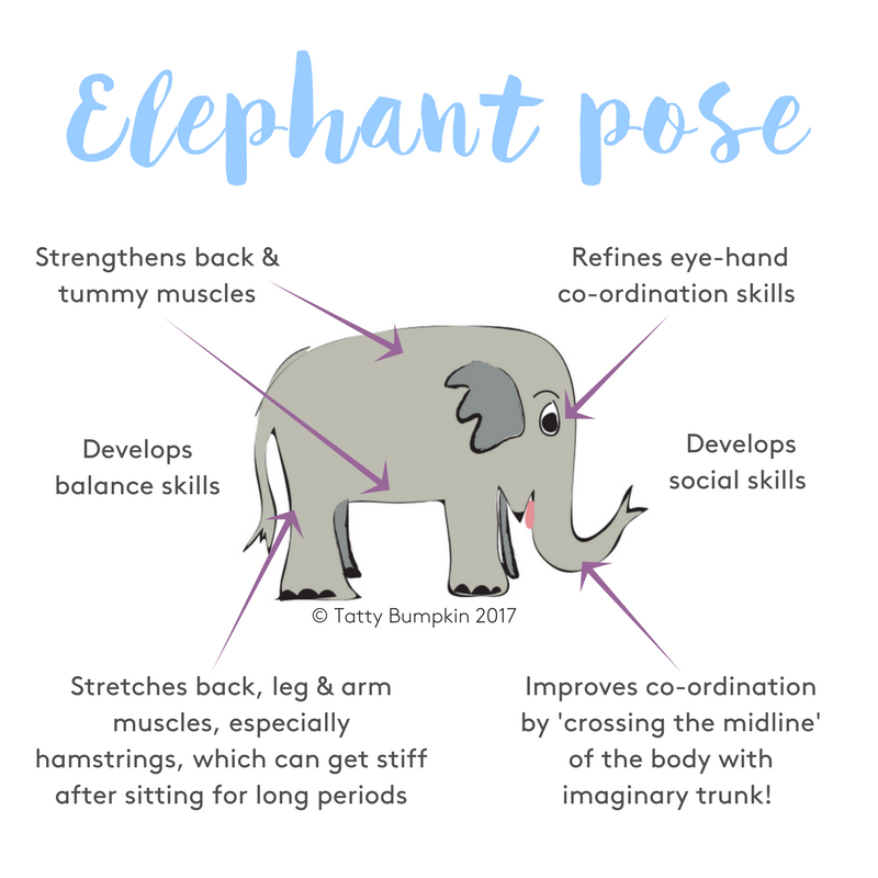 Elephant pose benefits