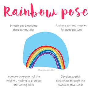 Rainbow pose benefits
