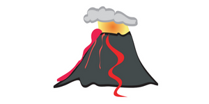 Volcano pose blog post header