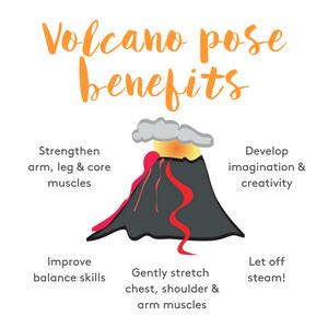 Volcano pose benefits