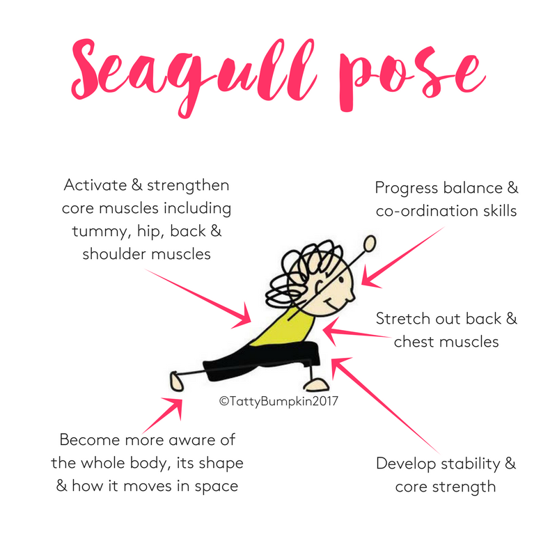 Seagull pose benefits