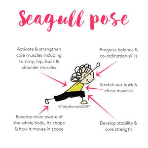 Seagull pose benefits