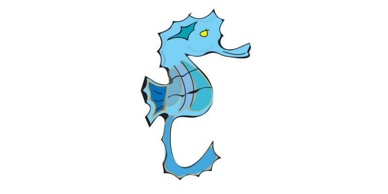 seahorse pose blog header