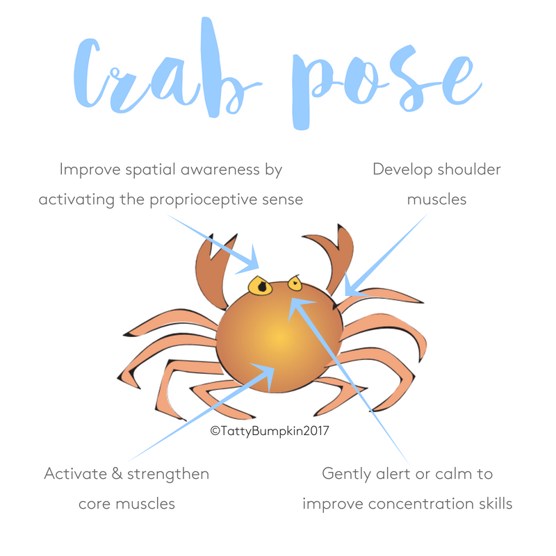 Crab pose benefits