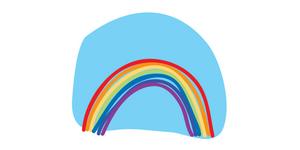 Rainbow pose blog post header