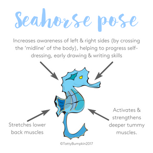Seahorse pose benefits