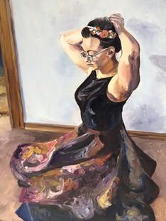 Floral Motifs in Self Portrait