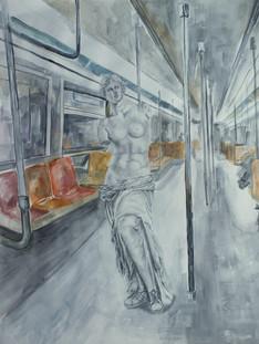 Venus de Milo Takes the Train