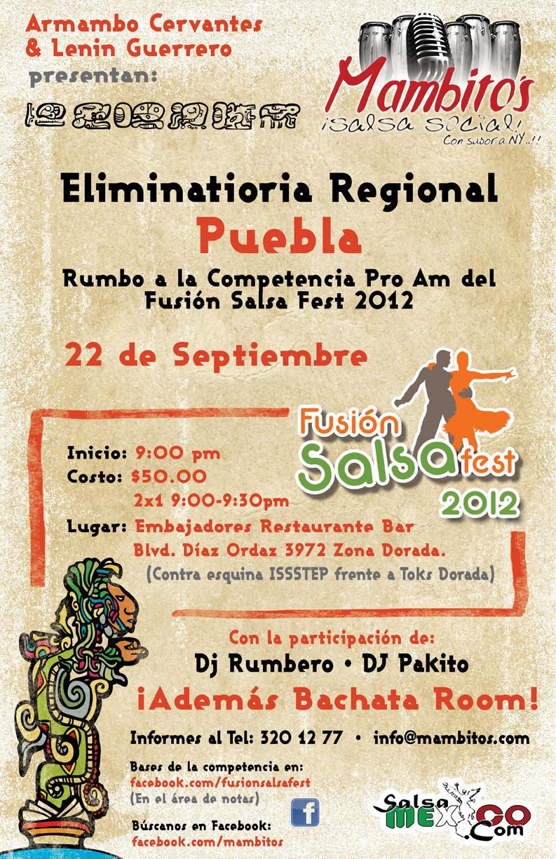 Poster elim Puebla Salsa Mexico