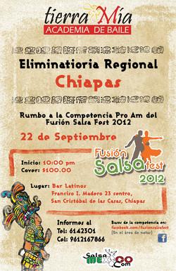 Poster elim Chiapas Salsa Mexico
