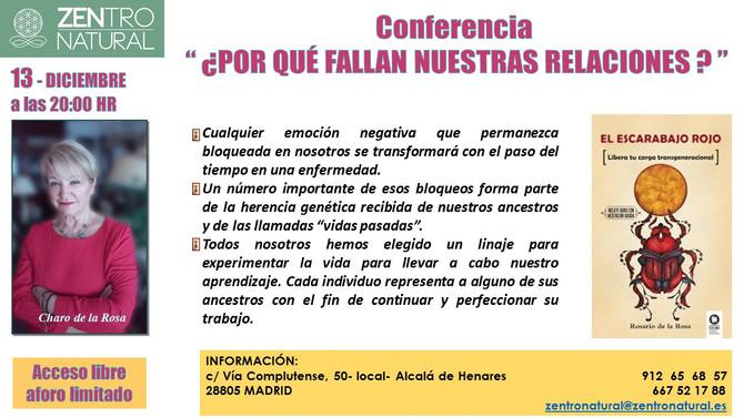 Conferencia: ¿Por qué fallan nuestras relaciones? - 13 de Diciembre (Madrid)