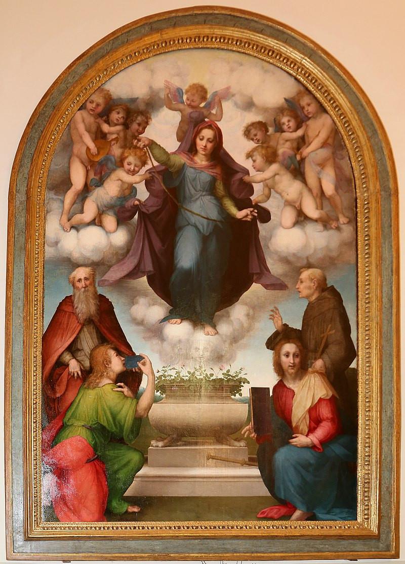 Madonna della Cintola con i santi Giovanni Evangelista, Tommaso, Jacopo e Francesco.