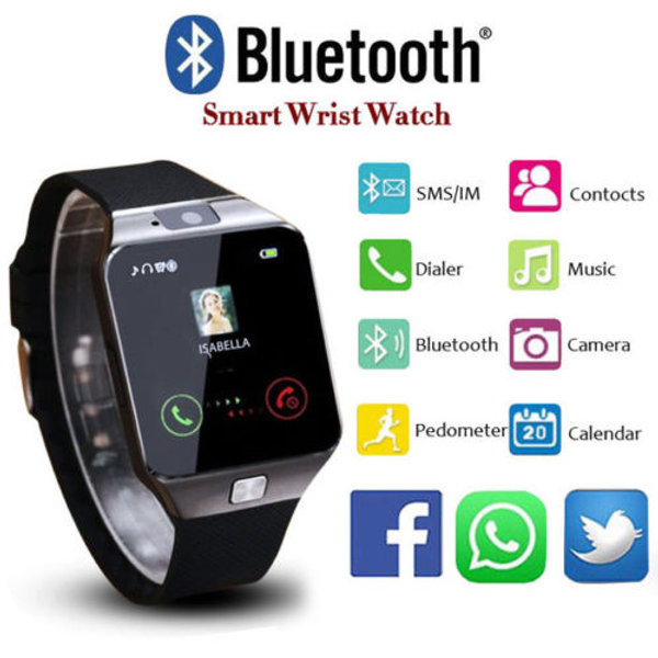 Dz09 Smart Watch Phone Camera Bluetooth Apple Android Compatible