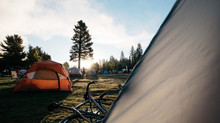 Camping and Cycling