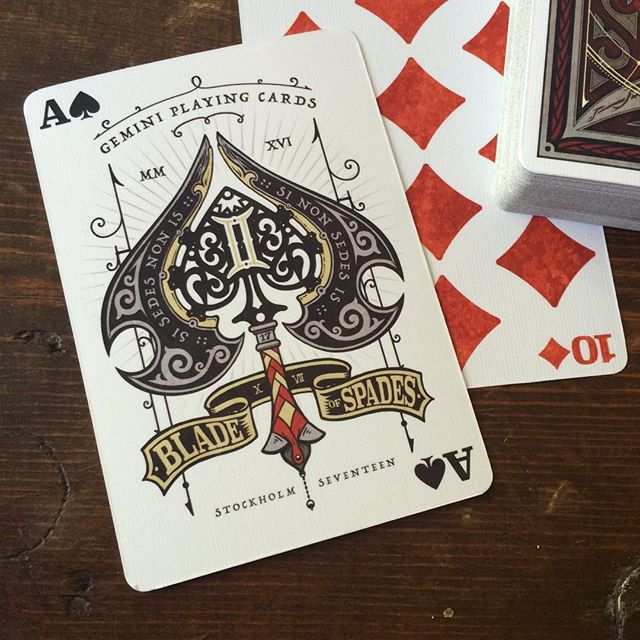 Blade of Spades as Ace of Spades ♠️♠️♠️ for #geminiplayingcards ♊️ how do you like it_ #gemini #play