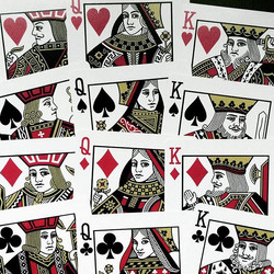 here is the entire set of improved courts for #ravnplayingcards♠️♥️♣️♦_️actually I will do a few mor