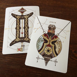 ♊️Gemini Playing Cards♊️ the two jokers (tweaked)_ the key and the hanging cruet