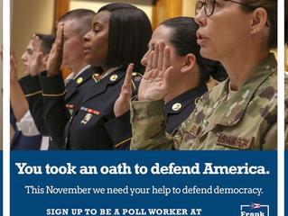 Secretary of State LaRose encourages veterans to work the polls this November