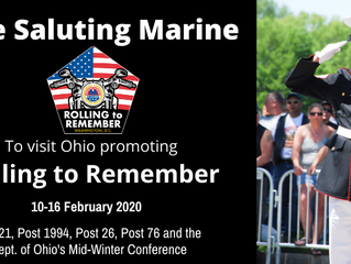 Saluting Marine to visit Ohio to promote Rolling To Remember