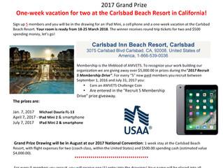Membership Recruitment Contest - California Resort!