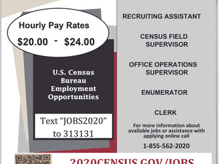 The US Census is hiring, apply today!