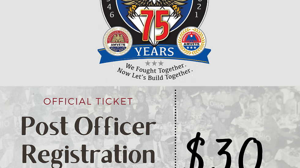 75th State Convention Post Officer's Registration