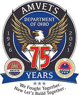 Amvets Ohio '75th Anniversary' Logo (4-C