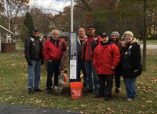 Post 444 installs Flag Pole for Veteran, Celebrate Marine Corps Birthday