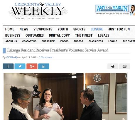 La Crescenta Valley Weekly News - screenshot