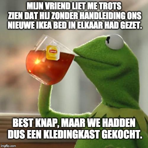 Kermit-de-kikker-drinkt-thee