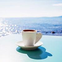 Coffee Greece Greek Sea
