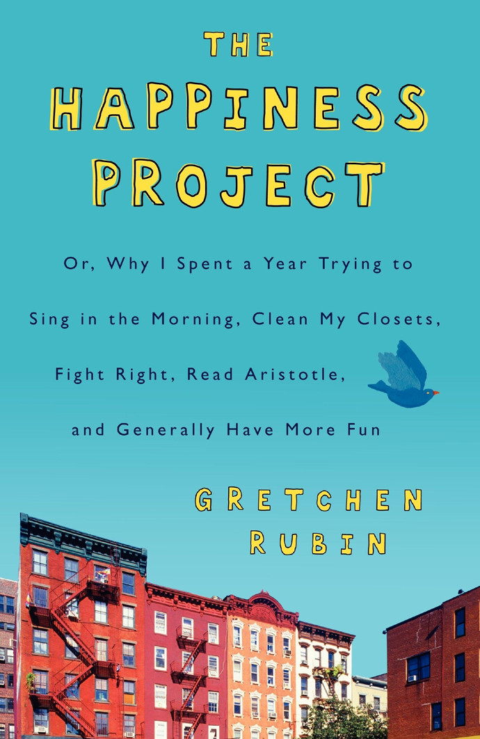 Book cover the happiness project by author Gretchen Rubin