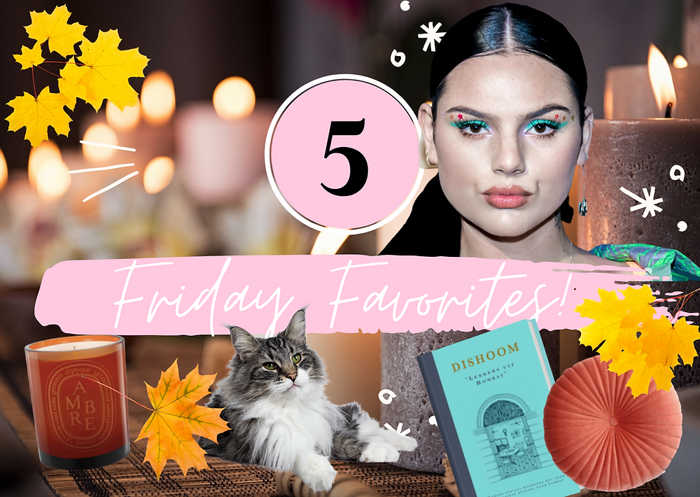 The-Happy-Files-Friday-Favorites-collage-Famke-Louise-cat-candle-pillow-autumn-leaves
