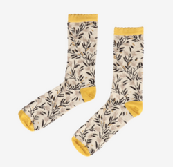 Bamboe-sokken-met-print-geel
