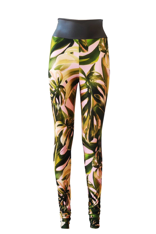 Legging-palm-print
