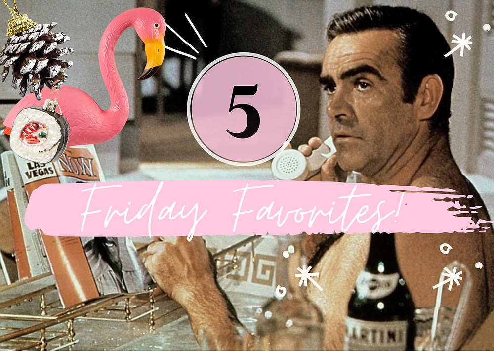 The-Happy-Files-feelgood-blog-collage-Sean-Connery-flamingo-christmas-decorations