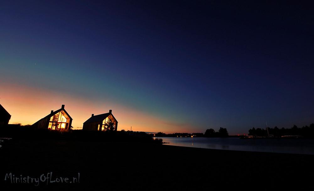 Sunset at Oesterdam Resort in Zeeland, The Netherlands