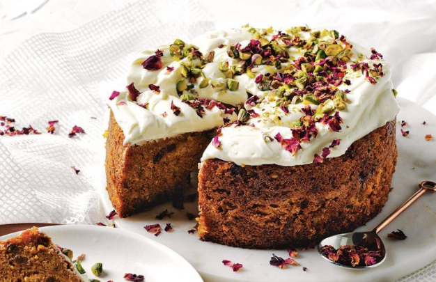 Carrot cake with a icing of labneh