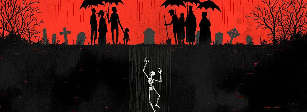 Lore podcast illustration graveyard skeleton